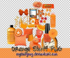 Orange Stuff PNG Vol.1 by MyShinyBoy