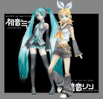 Vocaloid Girls by Athey