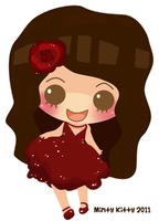 Mini chibi for cake carolchiu by Minty-Kitty-Art