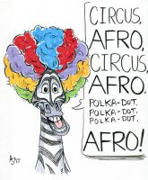 Marty from Madagascar: Circus Afro by AtlantaJones
