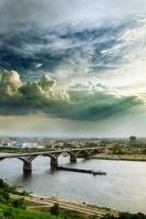 sky above the city by manahan