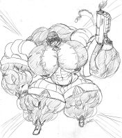 MonsterMuscle Naoto by MightyKnightBR