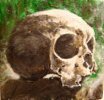 Small Skull Painting by musicophilia