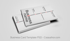 Business Card Template PSD by cssauthor