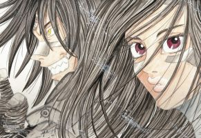 Space Angels_Alita and Sechs by Aeris1990