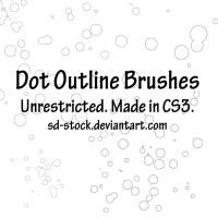 Dot Outline Brushes by sd-stock
