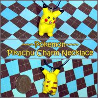Pokemon Pikachu Charm Necklace by YellerCrakka