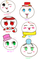 Gloomverse Characters Mochi Style by ZiaFreud