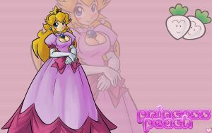 I Peach Princess Peach - WP by PetitCoeur