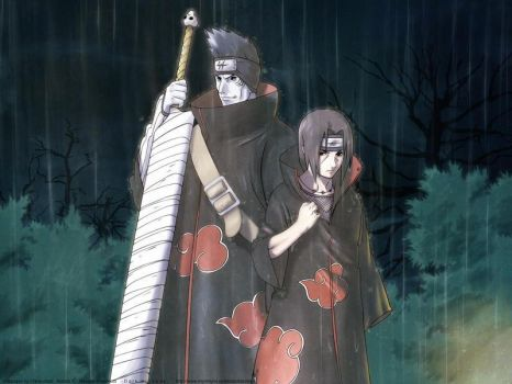 itachi and kisame wallpaper by Dethwolf