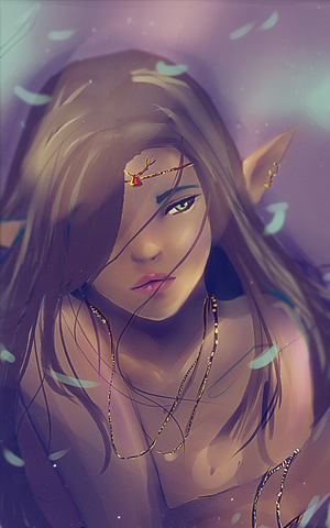 Try to left my lines practice elven girl by ipheli