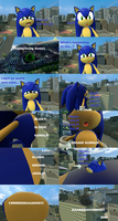 Perfect Chaos hypnotizes and inflates Sonic comic by SonicInflationLover