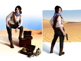 Uncharted cosplay Nathan Drake rule 63 by LadyofRohan87