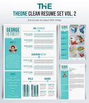 TheOne Clean Resume Set Vol. 2 by theXIVdesigns