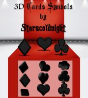 3D Cards symbols by starscoldnight by StarsColdNight