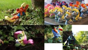 BronyCon '14 Prints and Charms by dustysculptures