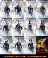 The HG:CF Character Posters by nickelbackloverxoxox