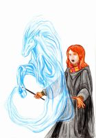 Patronus-ginny weasley w.i.p. by Sinusirabel
