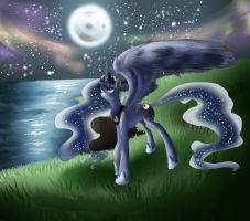 COMMISSION: Princess Luna- My Little Pony by dream--chan