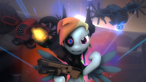 Rainbine Dash the Enforcer (BL:TPS/MLP Crossover) by Neon-S504