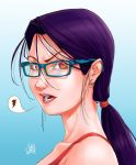 girl with glasses by luihzUmreal