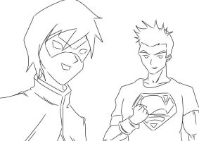 Young Justice: Old Friends by darkhawk5