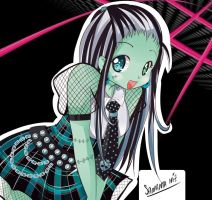 Frankie Stein de Monster High by keitenstudio