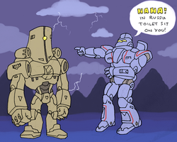 TOILET HEAD and GYPSY DANGER by RazzieMbessai