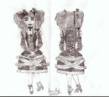 Gothic Lolita Dress Design by xSugarPainAkatsukix