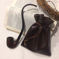 Strider Leather Pipe-weed Pouch (Dark Brown) by AsliBayrak