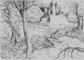 Sketch: Castle on the River by woutart