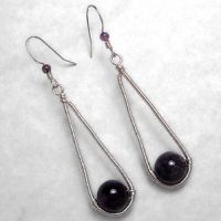 Amethyst Swing Earrings by sylva