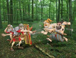 Battle of the Teutoburg Forest by Felipenn