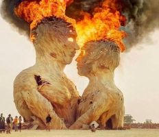 Burning man. by A-Mad-Russian-Pony