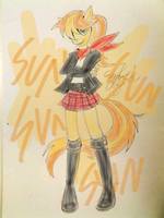 request. sunny day anthro by gameboyred