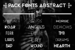 +FONTS || ABSTRACT by AndrezKP