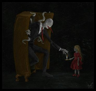 Slenderman likes children by Martii666