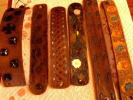 Williams Leather/ wristbands by moonknight420