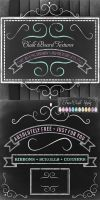 Free Chalk Board Textures Kit - Styles - Ornaments by starsunflowerstudio