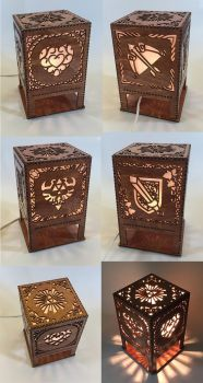 Legend of Zelda lasercut lamp by Athey