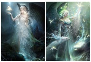 Illustration: Black wing Angel by thuyngan