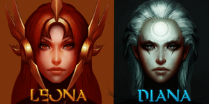 Leona y Diana Outcome by GrayAngel15