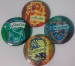 Hogwarts House Emblems [Set of 4 buttons] by MaverickTears