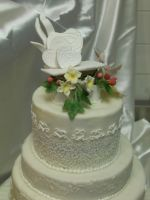 Traditional Wedding Cake by zamor438