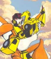 Sunstorm and Bumblebee by yodana