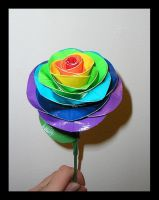 Duct Tape Rainbow Rose by DuckTapeBandit