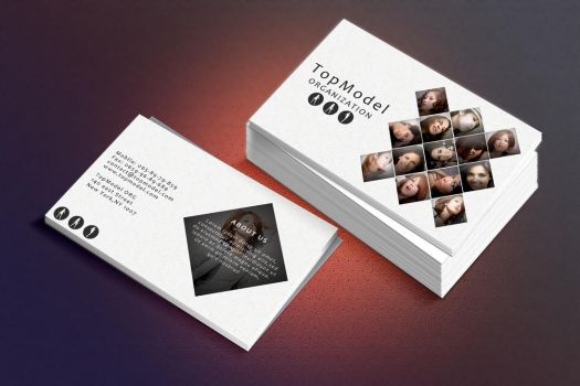 Photoshop free business card PSD TopModel by NikCompany