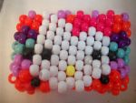 Hello Kitty Kandi cuff by mewberrylol