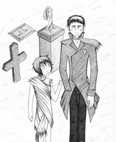 Graveyard Book- Bod and Silas by NitrusOxide