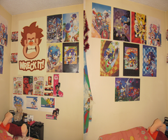 My room decorated with posters by DarkwingFan